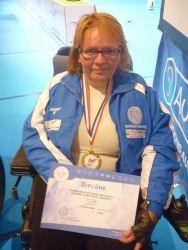 CDF TARBES 2016 Christine avec diplome et médaille or