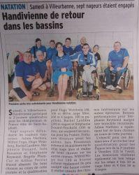 Article DL 180303 natation à Villeurbanne